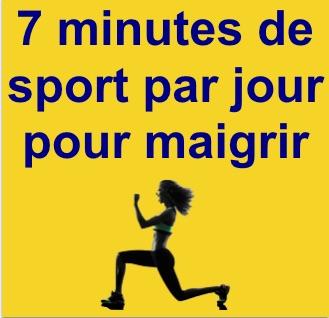 7 minutes de sport par jour pour maigrir
